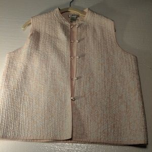 ORVIS PINK QUILTED VEST L